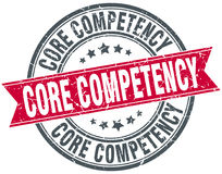 Core competency round grunge stamp Royalty Free Stock Photography
