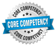 Core competency round isolated badge Royalty Free Stock Images