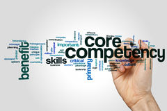 Core competency word cloud concept on grey background Stock Image