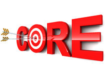 Core. Concept,  business, issue, development area or anything of prime importance Royalty Free Stock Photos