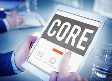 Core Core Values Focus Goals Ideology Main Purpose Concept Stock Image