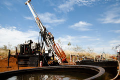 Core Drilling. Rig in Australia Stock Images