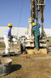 Core drilling underground. Royalty Free Stock Images
