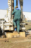 Core drilling underground. Royalty Free Stock Photography