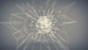 Core future shape. Abstract 3d render Stock Images