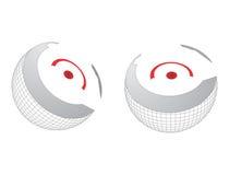 Core of globe. Illustration of core of globe on white background Royalty Free Stock Photo