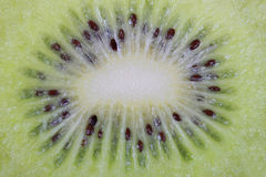 Core kiwi, macro. Close up Stock Photography