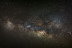 Core of Milky Way. Galactic center of the milky way, Long exposu Stock Image