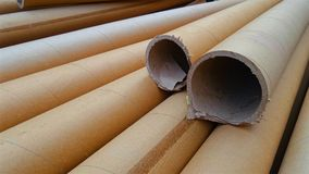 Core of printing medium. Paper rolls insert in media roll for core, available recycle stock photos
