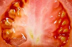 Core red fresh tomato cut in half close-up Stock Image