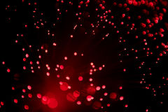 Core red lamp. Core of red colored fiber glass on a black background Royalty Free Stock Photo