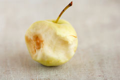 Core of an small light apple Royalty Free Stock Images