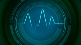 Core of sound wave pulse icon. Core of sound wave blue pulse icon concept vector background Stock Photos