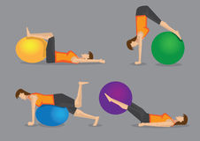 Core Strengthening Workout with Gym Ball Royalty Free Stock Image