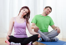 Core stretching Royalty Free Stock Image
