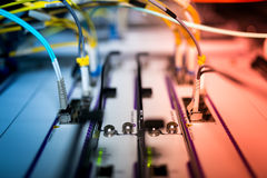 Core switch technology in network room place Royalty Free Stock Images