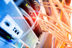 Core switch technology in network room place Stock Images