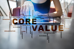 Core value. Business concept. Words cloud. Royalty Free Stock Image