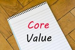 Core value text concept on notebook Stock Photos