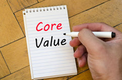 Core value text concept on notebook Royalty Free Stock Photos