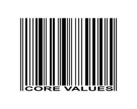 Core Values Barcode Stock Photography