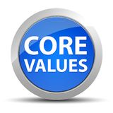 Core Values blue round button royalty free illustration