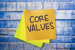 Core Values, Business Ethics Motivational Inspirational Quotes stock photos