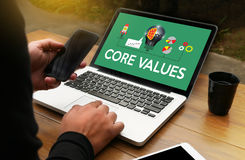 CORE VALUES ,  Business, Internet and technology CORE VALUES con Stock Image