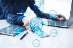 Core values business and technology concept on the virtual screen. Core values business and technology concept on the virtual screen Stock Photography