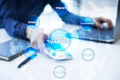 Core values business and technology concept on the virtual screen. Core values business and technology concept on the virtual screen Stock Photo