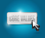 Core values button illustration design Royalty Free Stock Images
