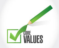 Core values check mark sign illustration design Stock Images