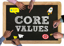 Core Values Concept, Businessman working Royalty Free Stock Image