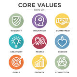 Core Values Icons Stock Photos