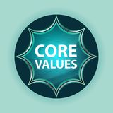 Core Values magical glassy sunburst blue button sky blue background royalty free illustration