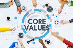 Core Values Principles Ideology Moral Purpose Concept Royalty Free Stock Images