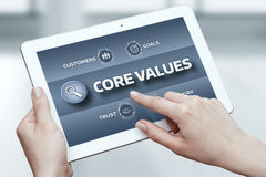 Core Values Responsibility Ethics Goals Company concept.  stock images