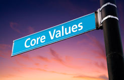 Core Values Road Sign Royalty Free Stock Images