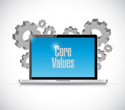 Core values technology sign illustration. Design over white Royalty Free Stock Photography