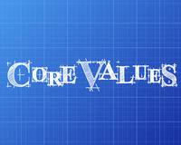 Core Values Word Blueprint Royalty Free Stock Images