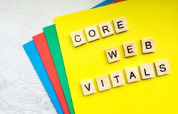 Free Core Web Vitals Sign Made With Tile Letters Stock Photo - 217438040