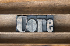 Core wooden tray Stock Image