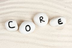 Core word Royalty Free Stock Photo