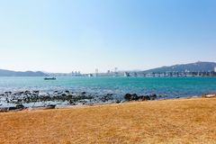 Corea del Sur de Busán de la playa de los dae del hun de Hae Fotografía de archivo