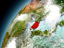 Corea del Sur de la órbita de Earth modelo Imagenes de archivo
