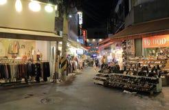 Corea del Sur de Seul de la calle de la moda de la universidad de Ewha Woman's Foto de archivo libre de regalías