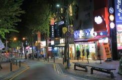Corea del Sur de Seul de la calle de la moda de la universidad de Ewha Woman's Foto de archivo