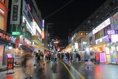 Corea del Sur de Seul de la calle de las compras de Hongdae Imágenes de archivo libres de regalías