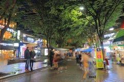 Corea del Sur de Seul de la calle de las compras de Hongdae Fotos de archivo
