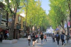 Corea del Sur de Seul de la calle de las compras de Insadong Imágenes de archivo libres de regalías